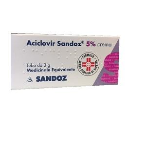 Aciclovir Sand 5 Crema Tubo Da 3 G