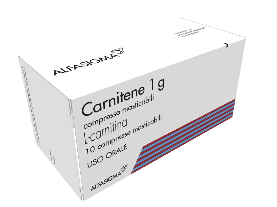 Carnitene 1 G Compresse Masticabili Blister Alu Alu 10 Compresse