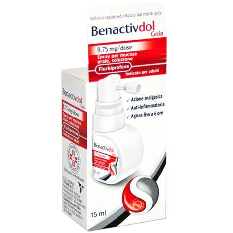 Benactivdol Gola 8,75 Mg/Dose Spray Per Mucosa Orale, Soluzione, 15Ml In Flacone Hdpe