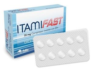 Itamifast 25 Mg Compresse Rivestite Con Film 10 Compresse In Blister Pa/Pvc/Al