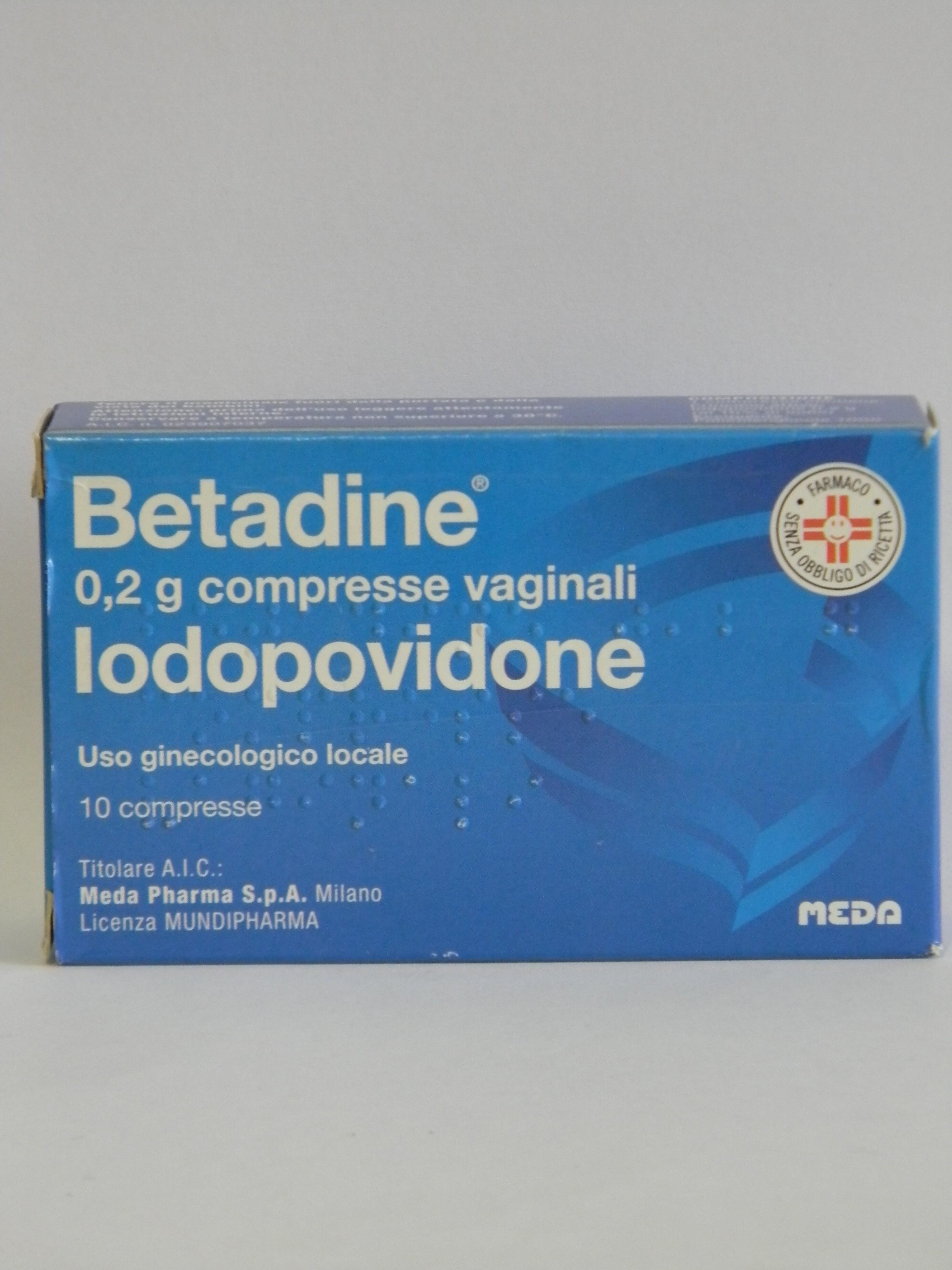 Betadine 0,2 G Compresse Vaginali 10 Compresse