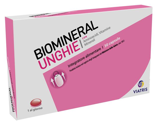 Mylan Linea Unghie Biomineral Unghie Deboli Integratore Alimentare 30 Capsule