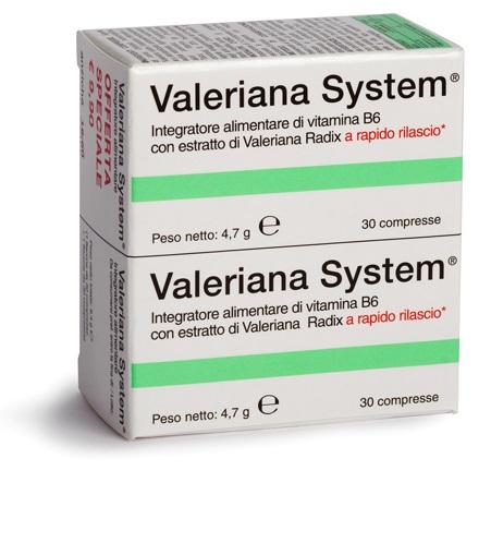 Sanifarma Valeriana System 30 Compresse 30 Compresse