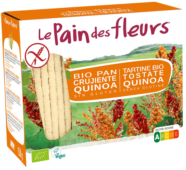 Ekibio Primeal Pain Des Fleurs Tartine Tostate Alla Quinoa Senza Lievito 150 G