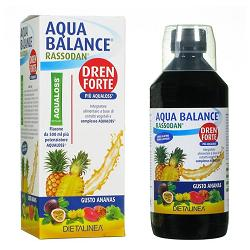 Aqua Balance Rassodan Dren Forte Gusto Ananas 500 Ml Dietalinea   Aqualoss 2 8 G