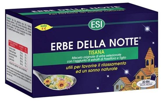 Esi Erbe Della Notte Tisana 20 Filtri Astuccio 40 G