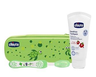 Chicco Set Dentale Verde Con Fluoro