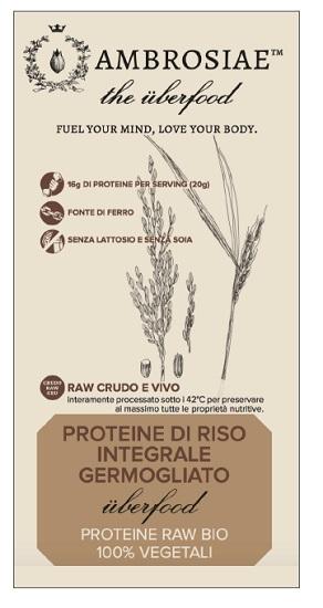 Ambrosiae Uberfood Proteine Di Riso Integrale Germogliato 200 G