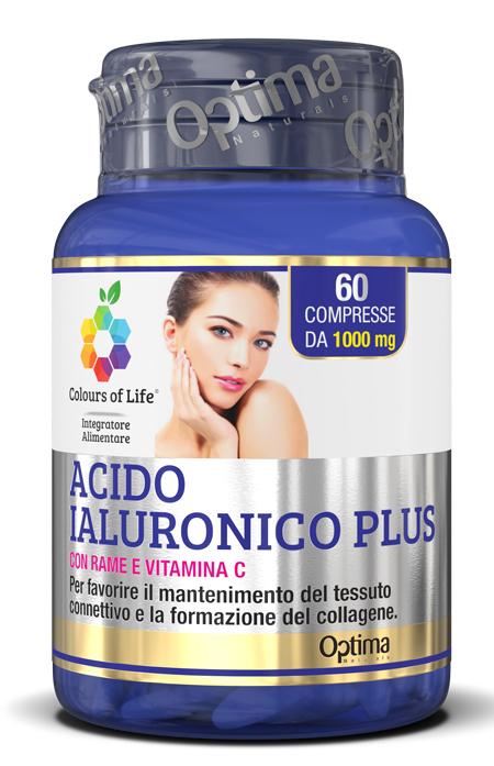 Optima Naturals Colours Of Life Acido Ialuronico Plus 60 Compresse 1000 Mg