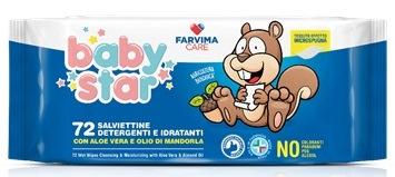 Farvima Medicinali Farvima Care Babystar Salviette Bebe  72 Pezzi