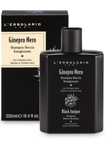 L''erbolario Ginepro Nero Shampoo Doccia Energizzante 250 Ml