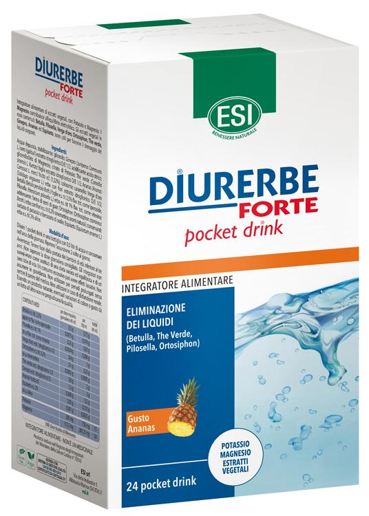 Esi Diurerbe Forte Pocket Drink Ananas 24 X 20 Ml
