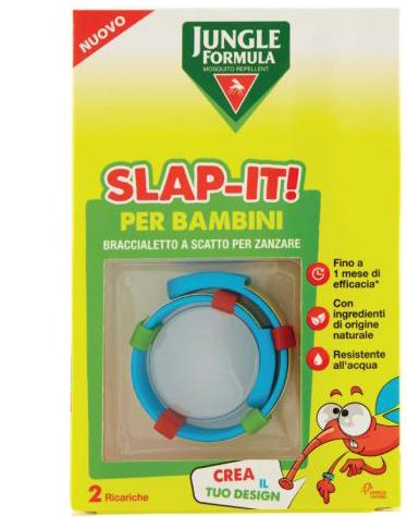 Jungle Formula Slap it Braccialetto Anti zanzare Per Bambini  2 Ricariche