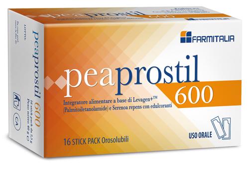 Farmitalia Peaprostil 600 16 Stick Pack Orosolubili