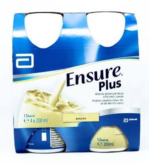 Abbott Ensure Plus Banana 4 Bottiglie Da 200 Ml