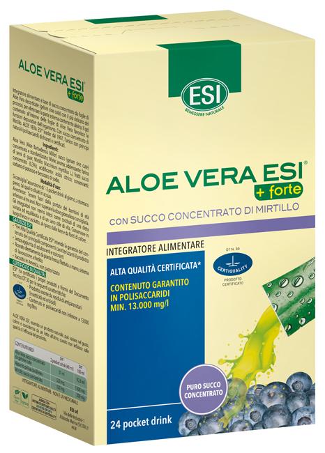 Esi Aloe Vera Succo   Forte Mirtillo 24 Pocket Drink