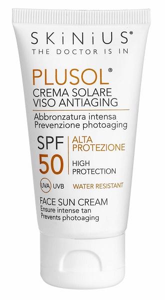 Skinius Plusol Crema Solare Viso Spf 50 50 ml