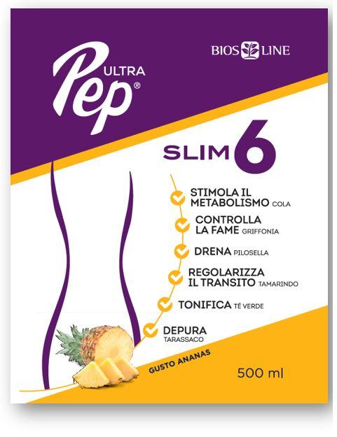 Ultra Pep Slim 6 Ananas 500 Ml Con Edulcorante