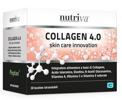 Nutriva Linea Pelle Collagen 4 0 Integratore Collagene Elastina 30 Bustine
