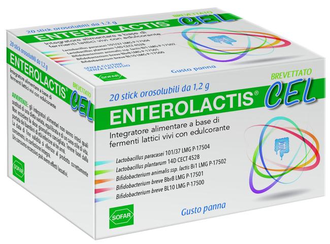 Sofar Enterolactis Cel 20 Stick Orosolubili
