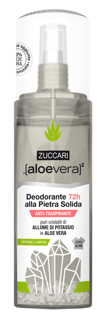 Zuccari Aloevera2 Deodorante Pietra Solida Spray 100 Ml
