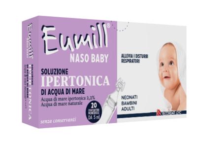 Recordati Eumill Naso Baby Soluzione Ipertonica 20 Contenitori Monodose 5 Ml