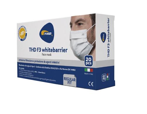 Thd Mascherina Chirurgica Thd Mask Tre Strati Colore Azzurro 20 Pezzi