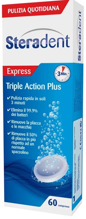Reckitt Benckiser H.(it.) Steradent Triple Action Plus 60 Compresse Pulenti