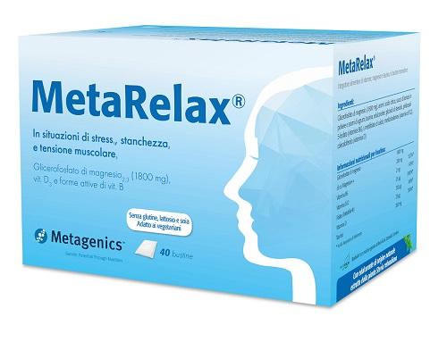 Metagenics Belgium Bvba Metarelax 40 Bustine New