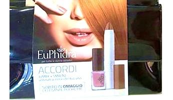 Euphidra Accordi Capelli Ramati 1 Smalto + 1 Rossetto In Pochette