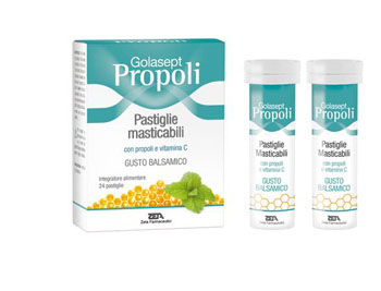 Zeta Farmaceutici Golasept Propoli 24 Compresse Masticabili Balsamiche