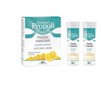 Zeta Farmaceutici Golasept Propoli 24 Compresse Masticabili Miele Limone
