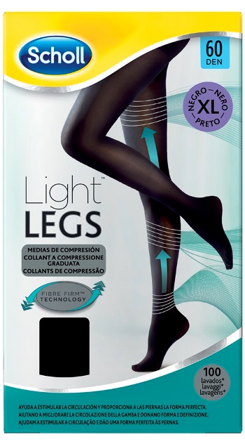 Scholl Lightlegs 60 Denari Taglia Xl Colore Nero 1 Paio