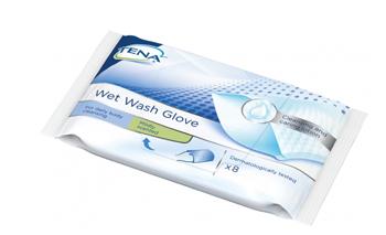 Essity Italy Tena Wet Wash Glove Guanto Detergente Umidificato 8 Pezzi