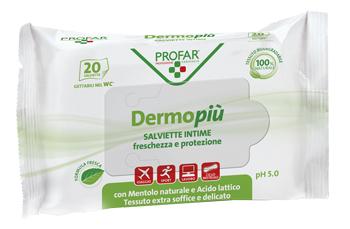 Federfarma.co Dermo Piu Salviette Intime Emollienti 15 Pezzi Profar