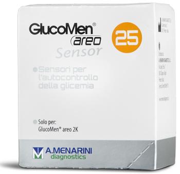 Strisce Glucomen Areo Sensor Per Analisi Del Glucosio 25 Pezzi
