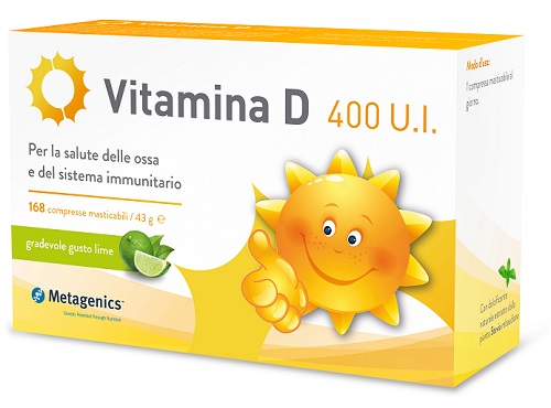 Metagenics Belgium Bvba Vitamina D 400 Ui 168 Compresse