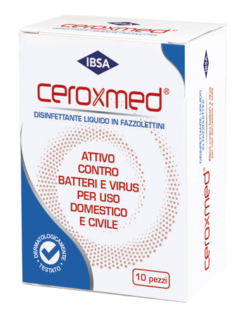 Ibsa Farmaceutici Italia Ceroxmed Fazzolettini Disinfettanti Monouso 10 Pezzi