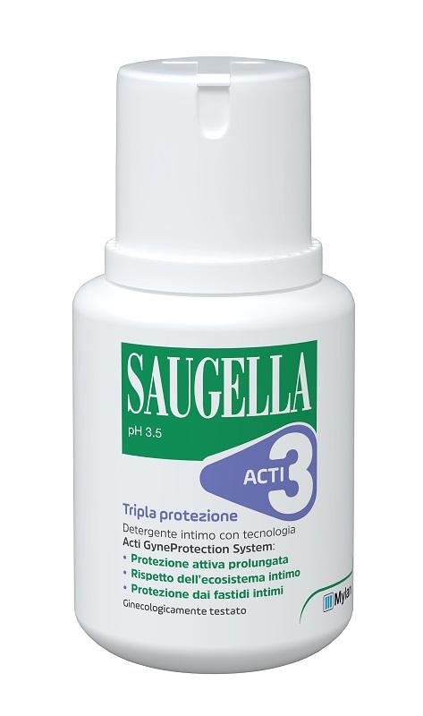 Meda Pharma Saugella Acti3 Detergente Intimo 100 Ml
