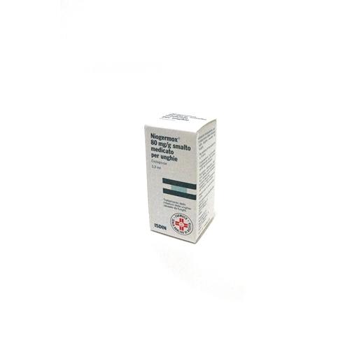 Niogermox 80 Mg/G Smalto Medicato Per Unghie Flacone In Vetro Da 3,3Ml Con Tappo A Vite Pp + Pennellino Applicatore
