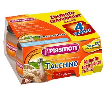 PLASMON OMOGENEIZZATO TACCHINO 4 X 80 G CON GIFT